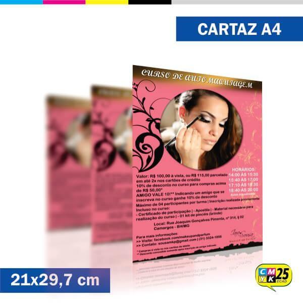 Detalhes do produto Cartaz A4 - 4x0 - 2000 Unid.