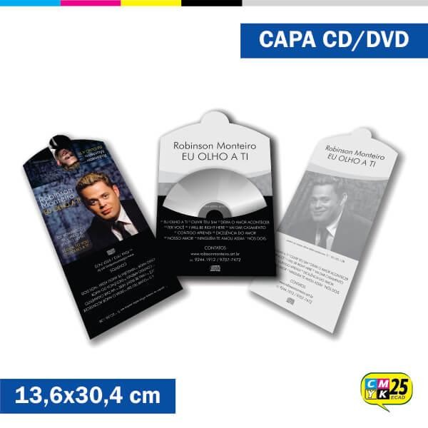 Detalhes do produto Capa de CD e DVD - 4x1 cores - 1.000 Unid.