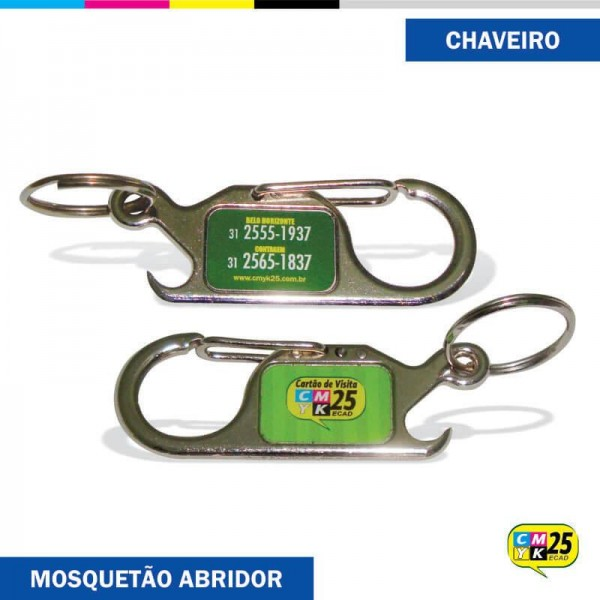 Detalhes do produto Chaveiro Mosquetão Abridor