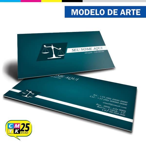 Detalhes do produto Cartão de Visita Advogado - Verde