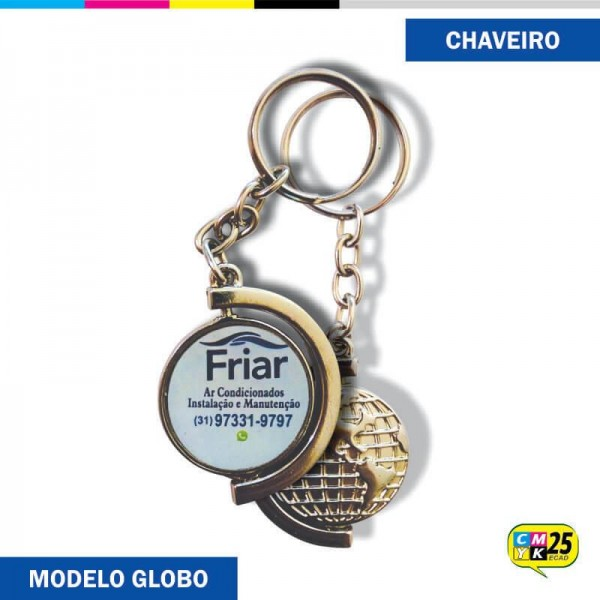 Detalhes do produto Chaveiro Globo Giratório