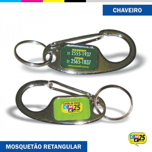 Detalhes do produto Chaveiro Mosquetão Retangular
