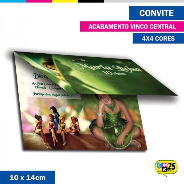 Detalhes do produto Convite 10x14cm - 4x4 Cor - Vincado