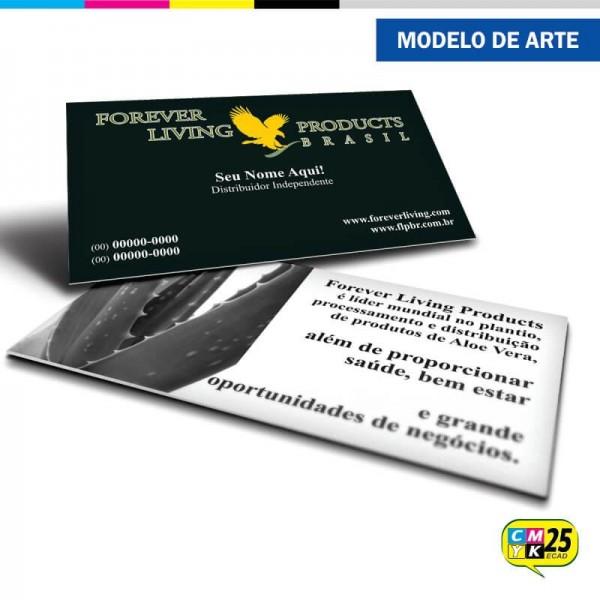 Detalhes do produto Cartão de Visita Forever Living - 02