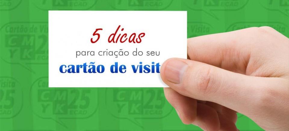 Dicas para criação do seu cartão de visitas