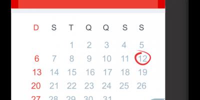 Material com data de evento