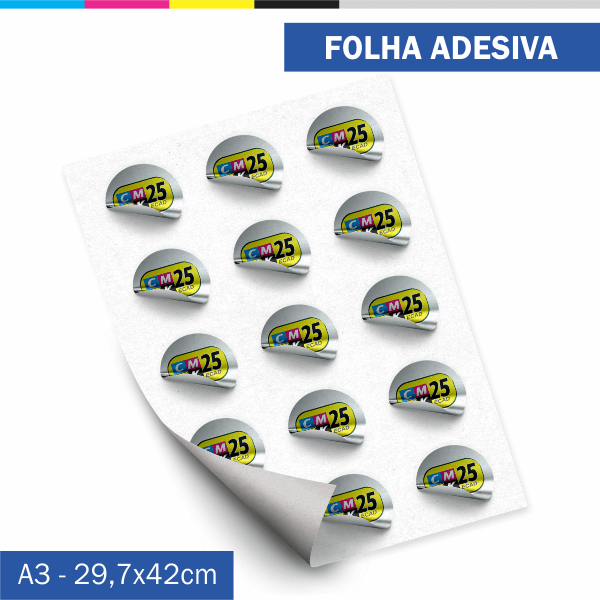 Detalhes do produto Folha Adesiva - Couchê 80g
