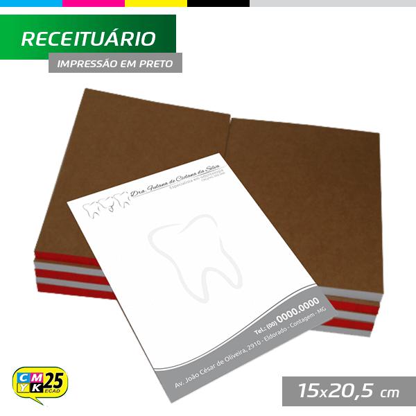 Detalhes do produto Receituário A5 - 15x20,5cm - 1000 Unid.