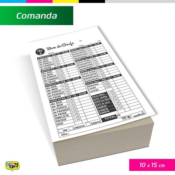 Detalhes do produto Comanda 10x15cm - 2000 Unid.