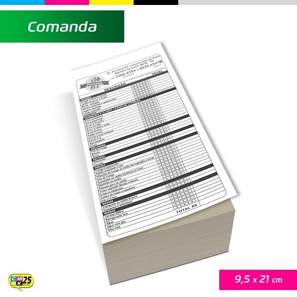 Detalhes do produto Comanda 9,5x21cm - 3000 Unid.