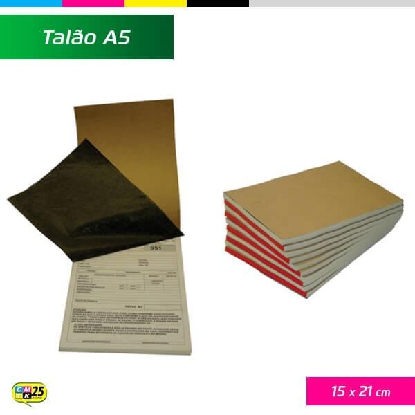 Detalhes do produto Talão A5 - 15x21cm - 10 Blocos 50x2 Vias