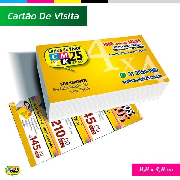 Detalhes do produto Cartão de Visita Verniz Localizado - 4X4 - 1000 Unid.
