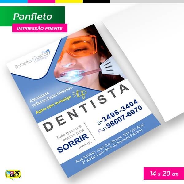Detalhes do produto Panfleto A5 - 4x0 - 14x20cm - 2.500 Unid.