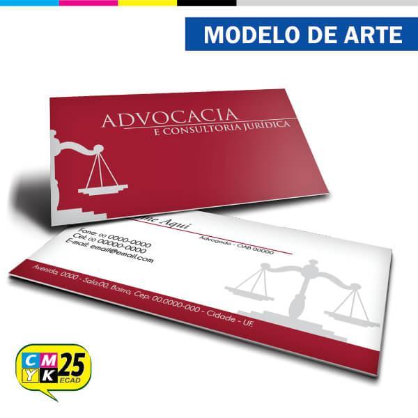 Cartão de Visita Advogado - Vermelho e Cinza