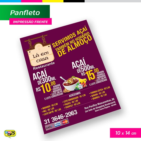 Panfleto A6 - 10X14cm - 1000 Unid.