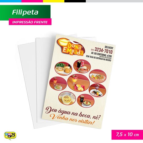 Filipeta - 4x0 - 5x15cm - 5.000 Unid